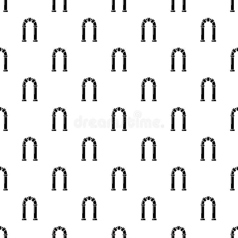 拱道古老象,简单的黑样式 皇族释放例证