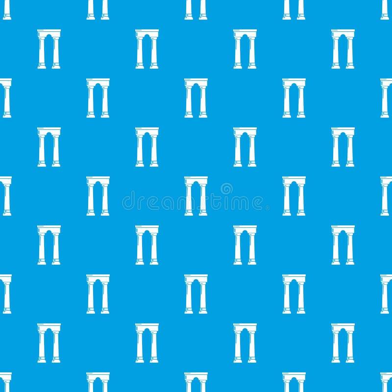 拱道埃及样式传染媒介无缝的蓝色 向量例证