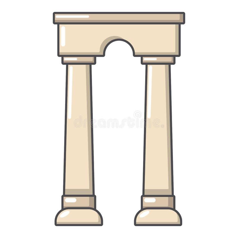拱道埃及象,动画片样式 库存例证
