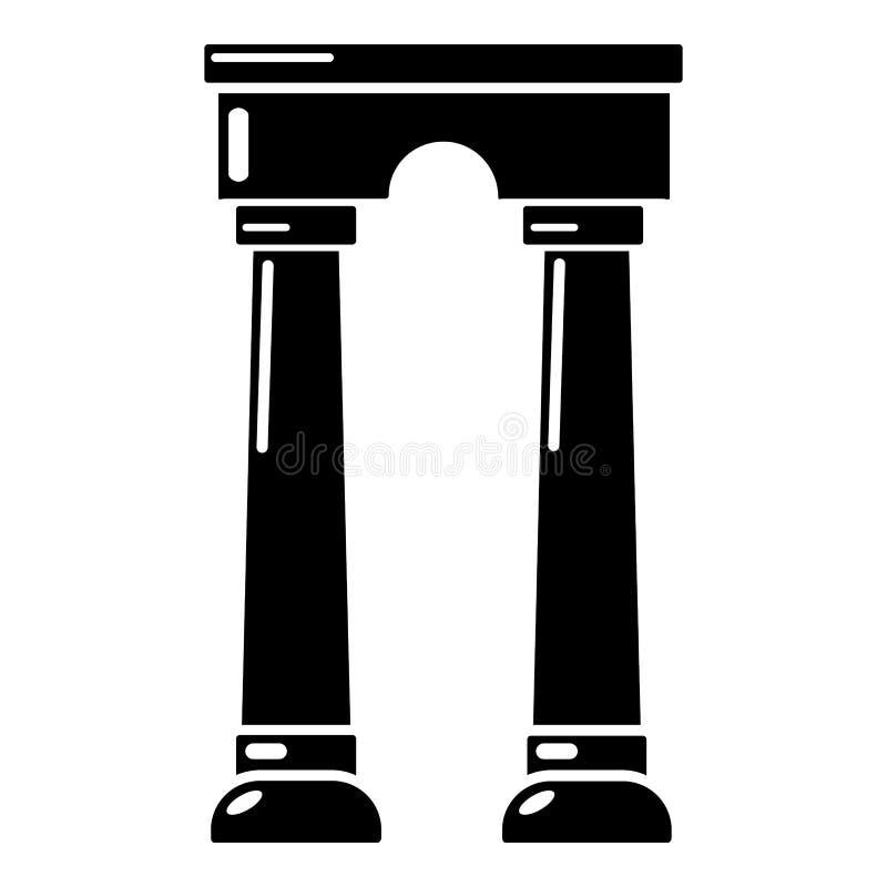 拱道埃及象,简单的黑样式 皇族释放例证