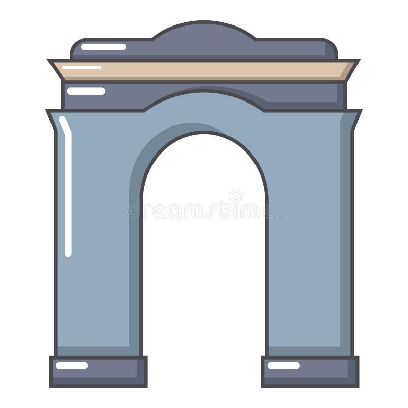 拱道大象,动画片样式 库存例证