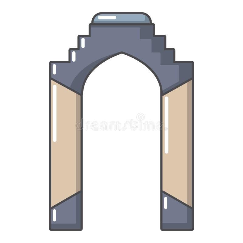 拱道宫殿象,动画片样式 向量例证