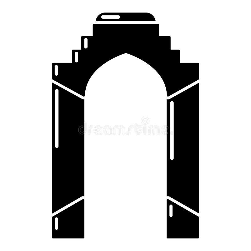 拱道宫殿象,简单的黑样式 皇族释放例证