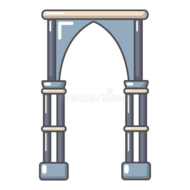 拱道建筑象,动画片样式 向量例证