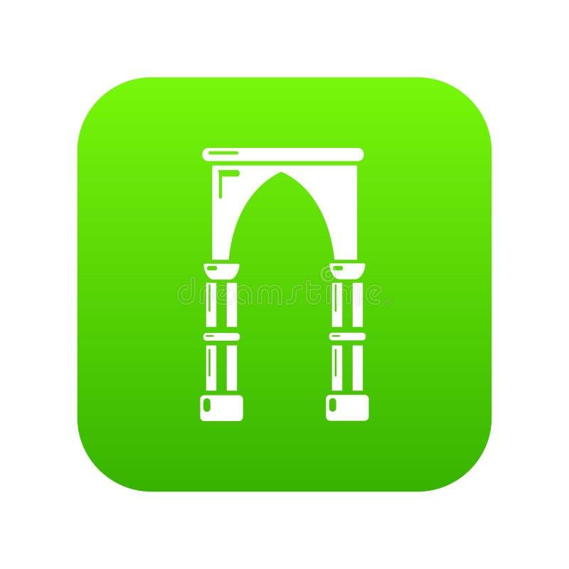 拱道建筑象,简单的黑样式 库存例证