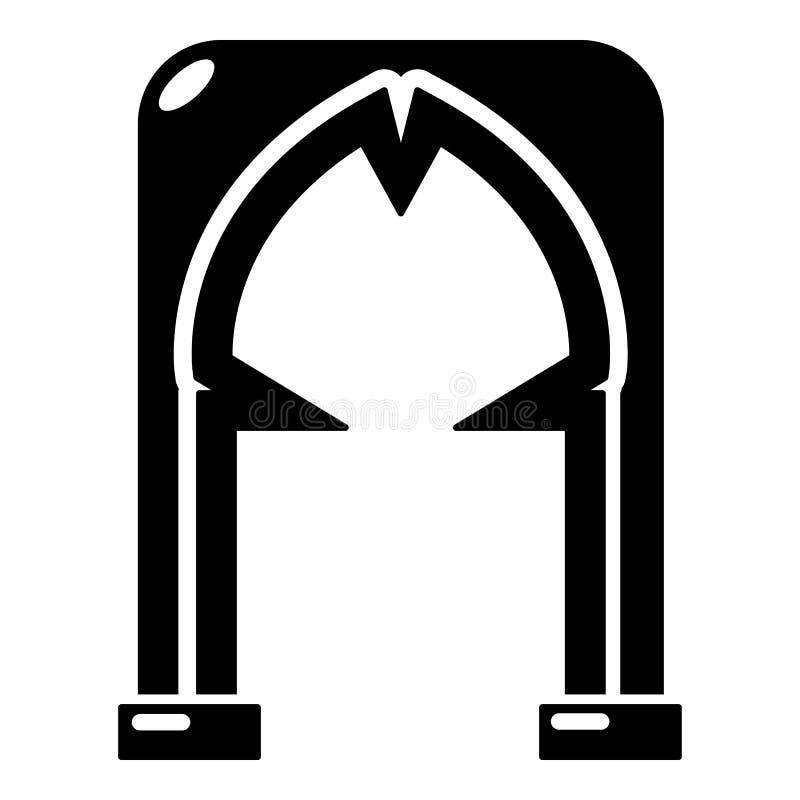 拱道恶棍象,简单的黑样式 向量例证