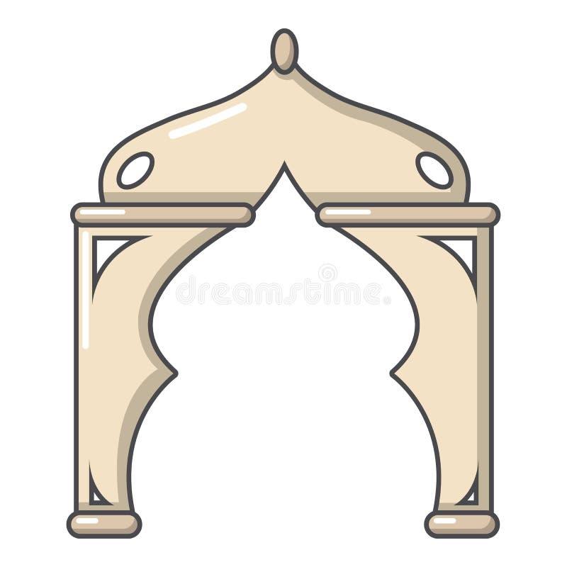 拱道火鸡象,动画片样式 皇族释放例证