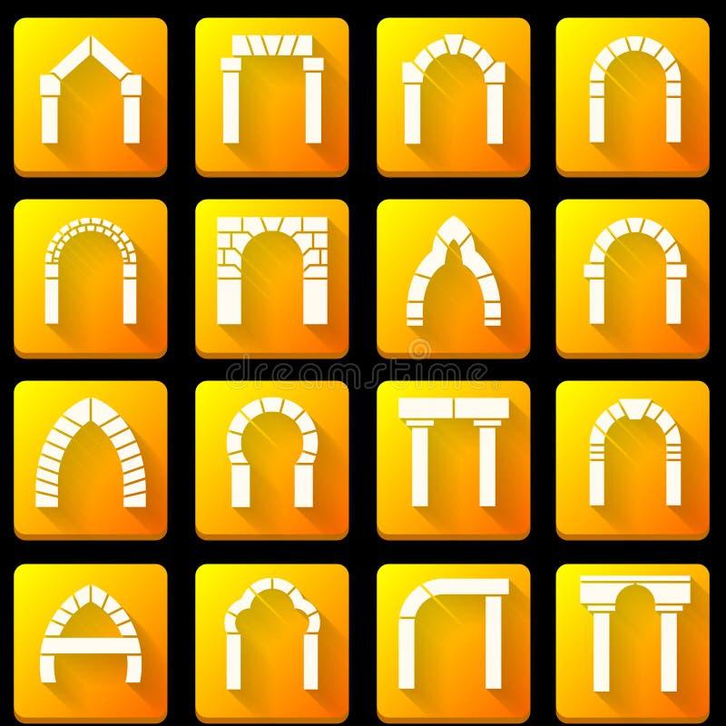 拱道的平的象收藏 库存例证