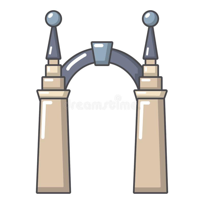 拱道矮子象,动画片样式 皇族释放例证