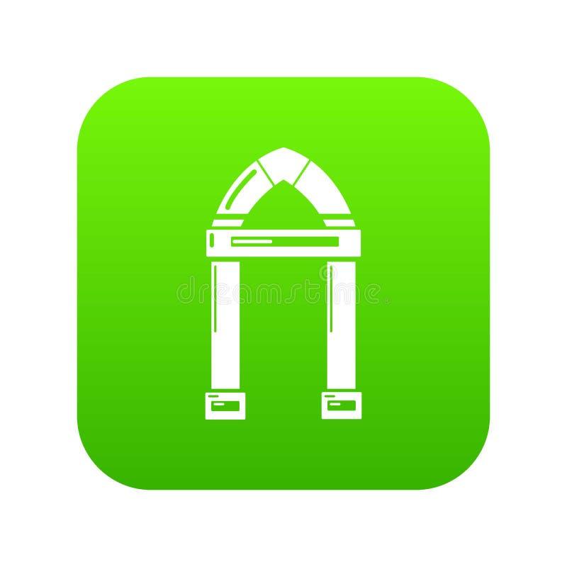 拱道装饰象绿色传染媒介 库存例证
