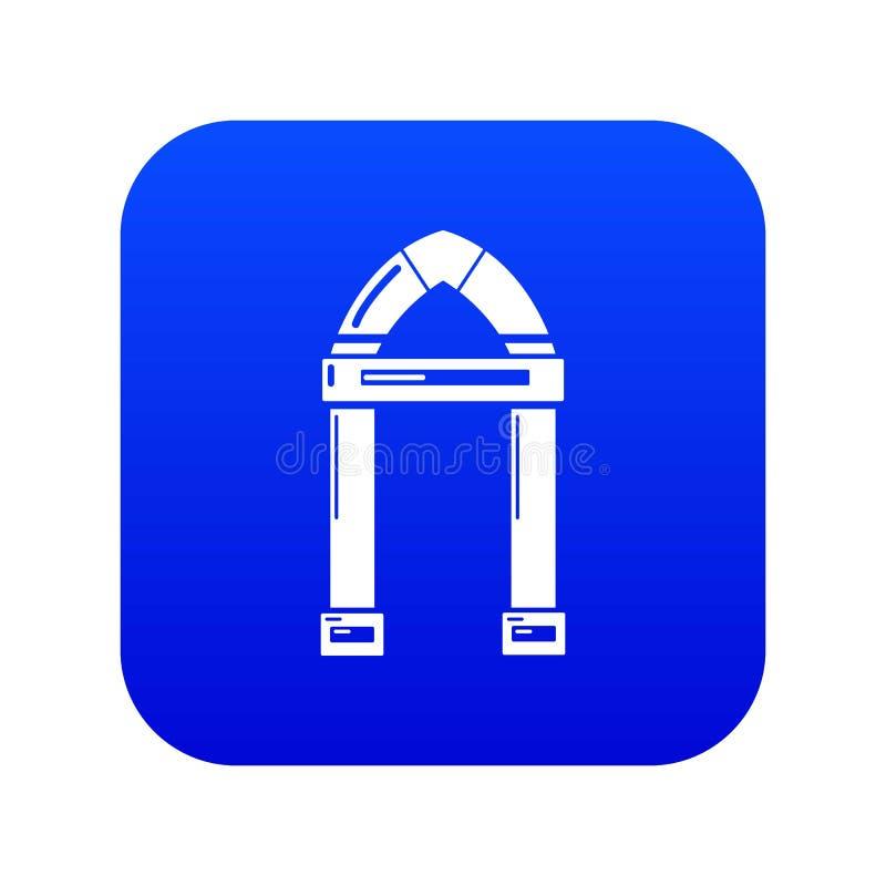 拱道装饰象蓝色传染媒介 向量例证