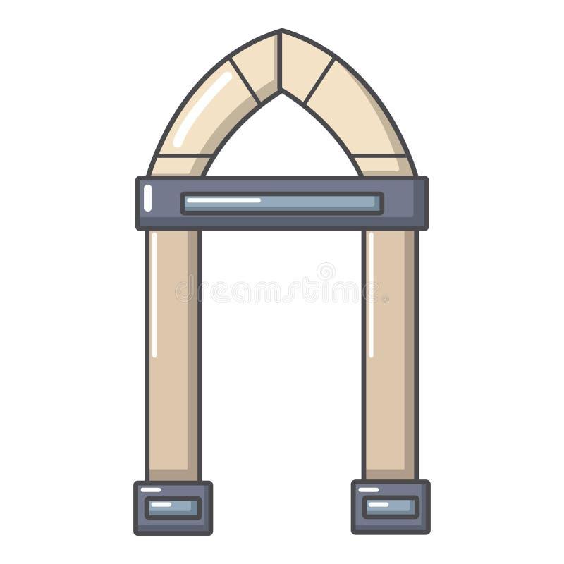 拱道装饰象,动画片样式 库存例证