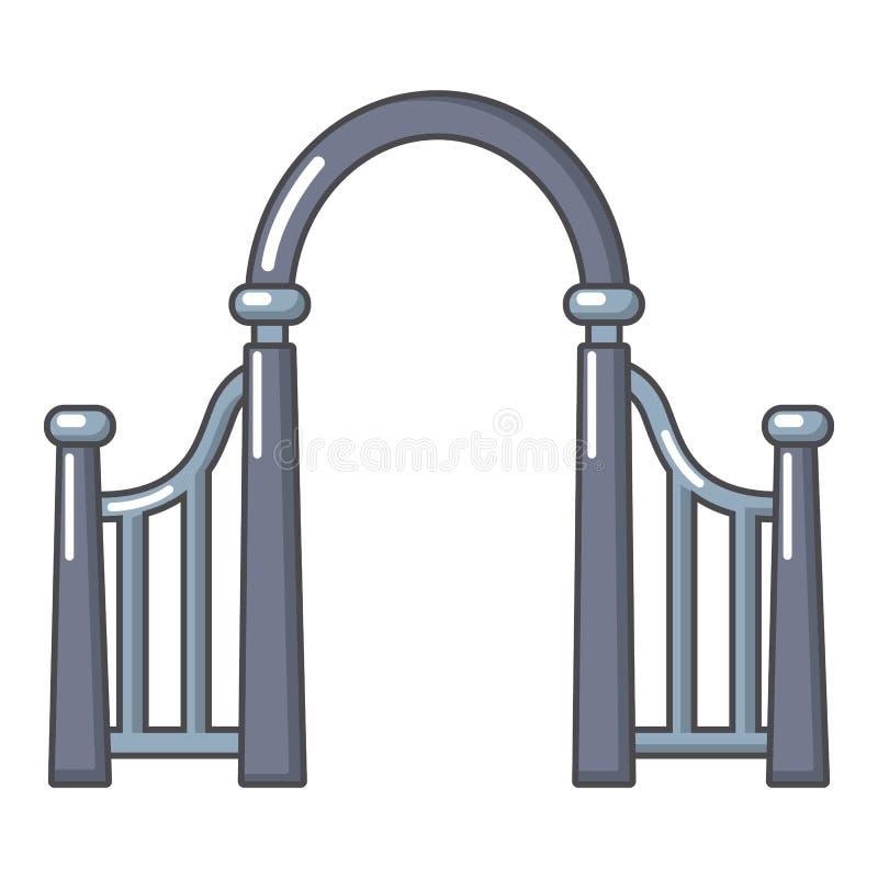 拱道金属象,动画片样式 皇族释放例证