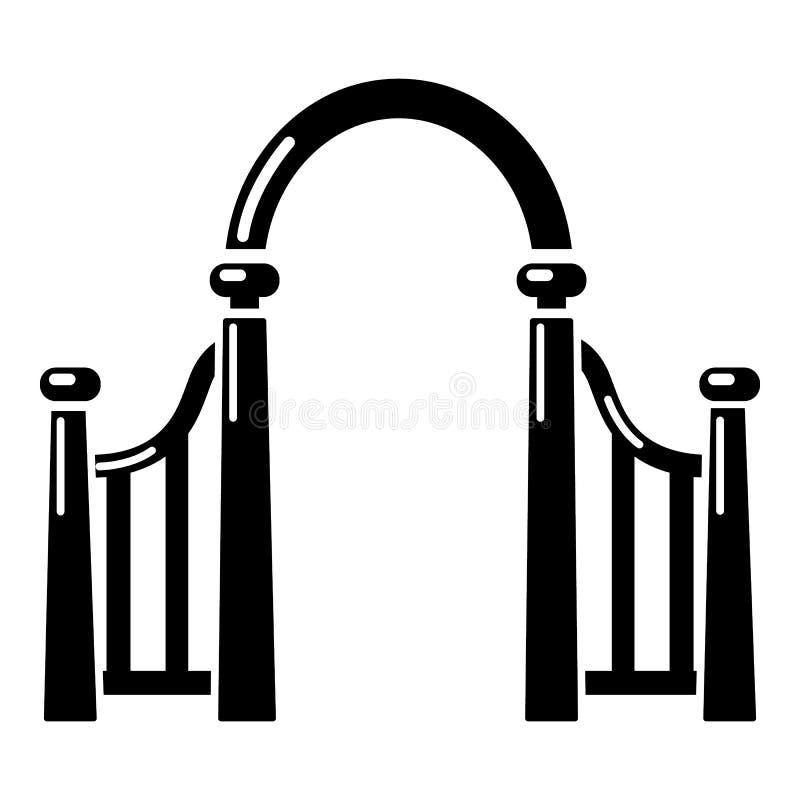 拱道金属象,简单的黑样式 皇族释放例证