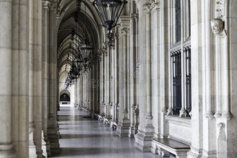 拱廊在维也纳 免版税库存照片