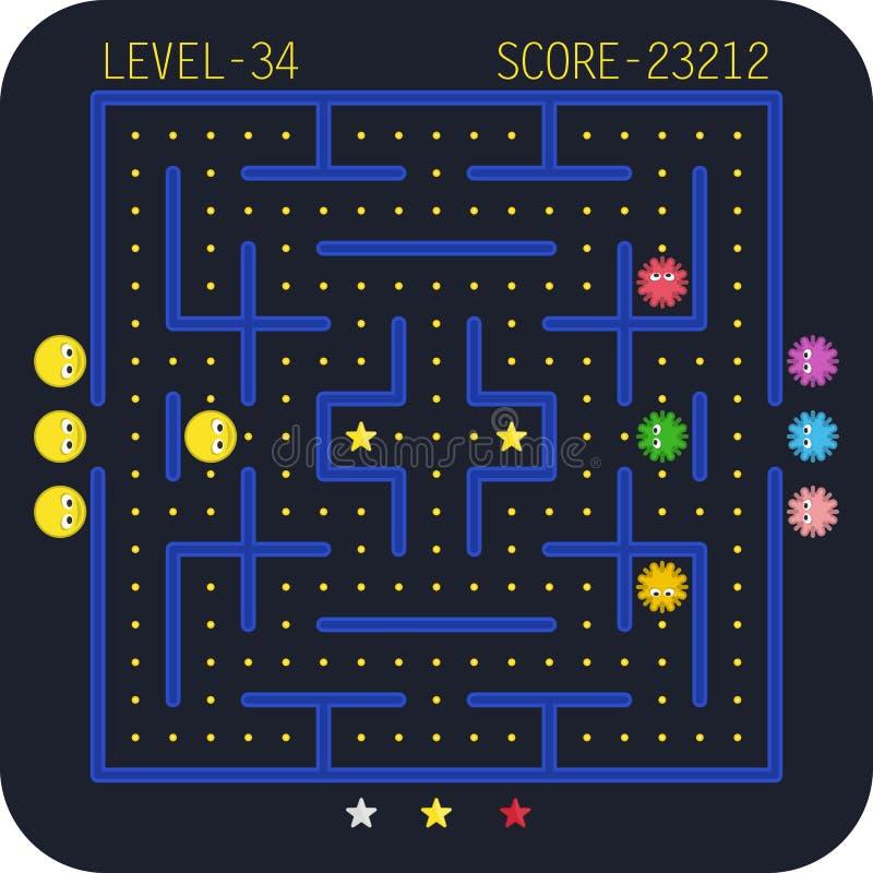 拱廊电子游戏概念 向量例证