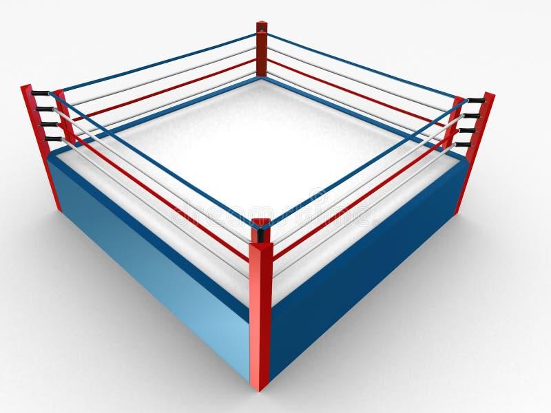 拳击台 库存例证