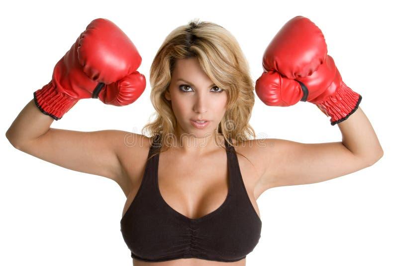 拳击妇女 免版税库存图片