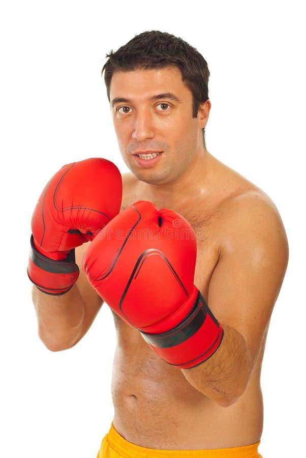 拳击手人培训 免版税库存图片