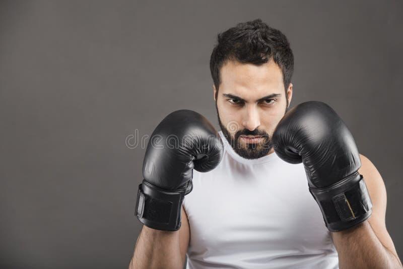 拳击手人 库存照片