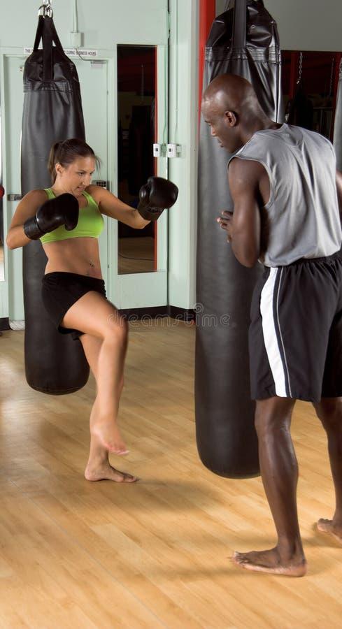 拳击手体操反撞力 免版税库存照片