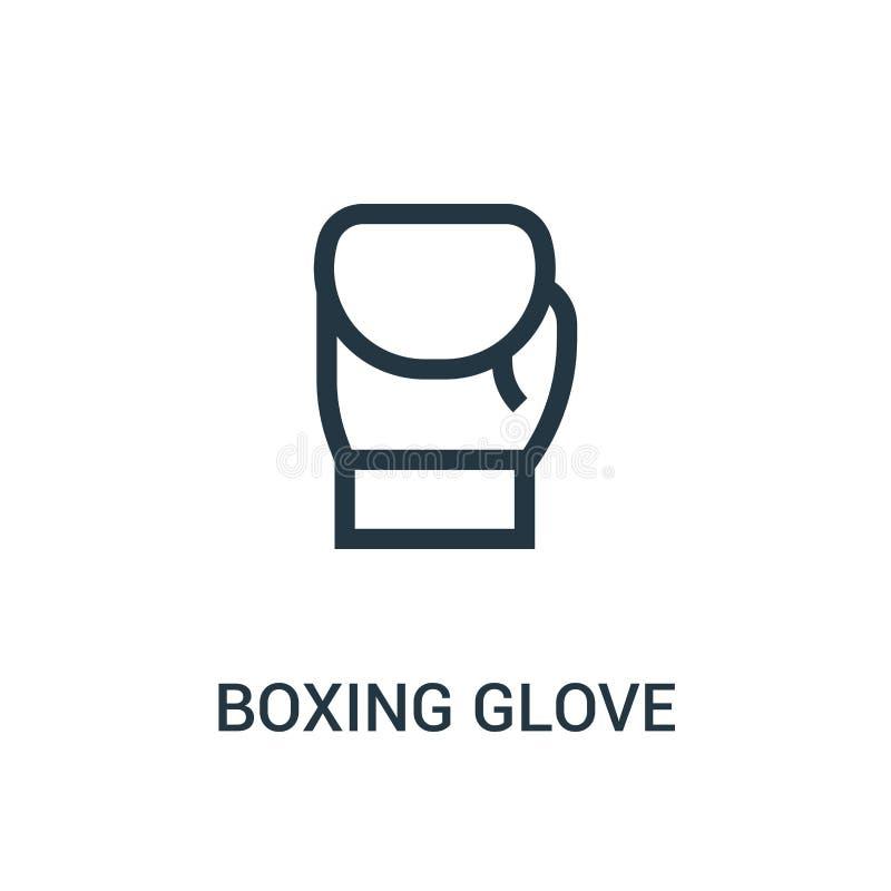 拳击手套从健身房汇集的象传染媒介 稀薄的线拳击手套概述象传染媒介例证 皇族释放例证