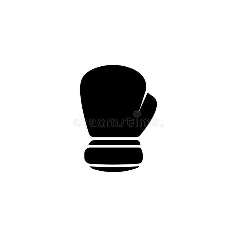 拳击手套平的传染媒介象 库存例证