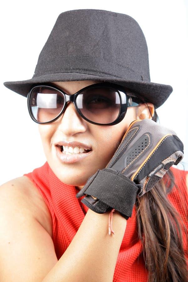 Download 拳击手女孩 库存图片. 图片 包括有 背包, 四四方方的, 表达式, 帽子, 衣物, 工作室, 概念, 图象 - 15685605