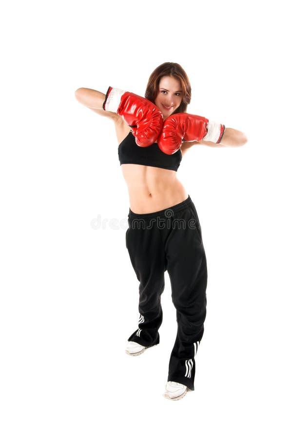 拳击手女性 库存图片