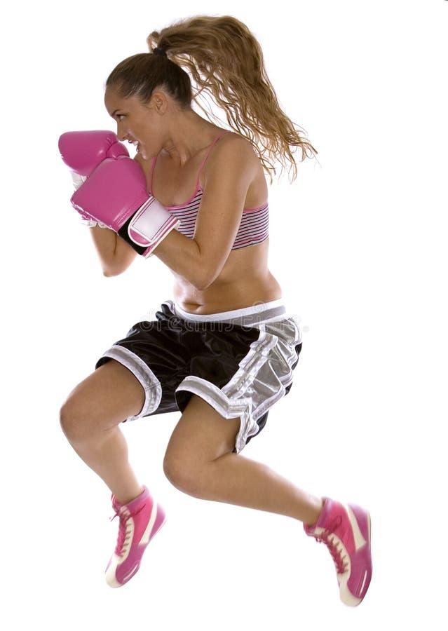 拳击手女性 库存照片