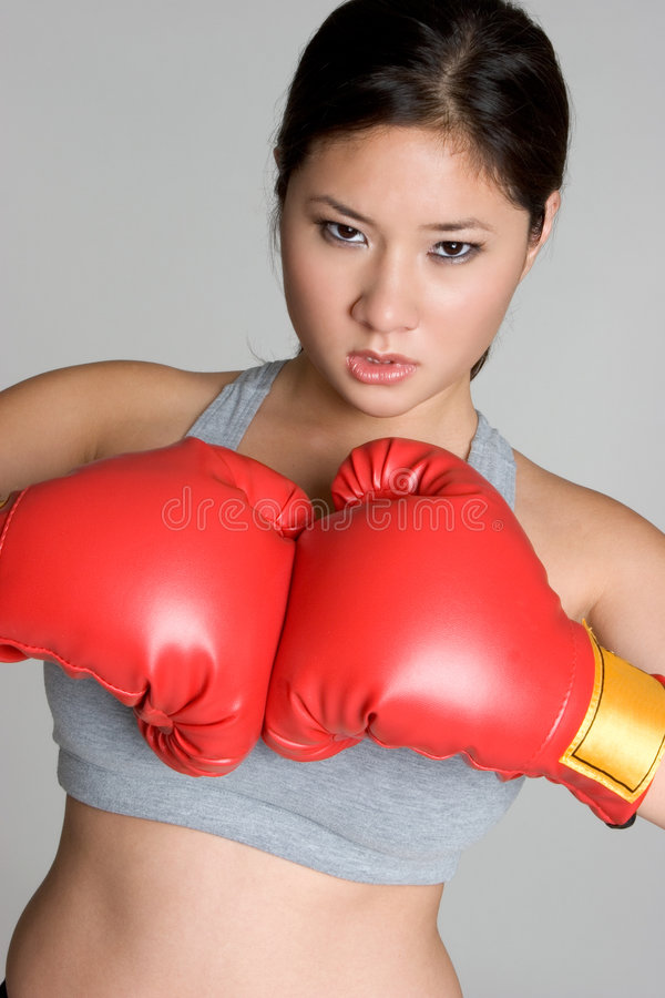 拳击手妇女 库存图片