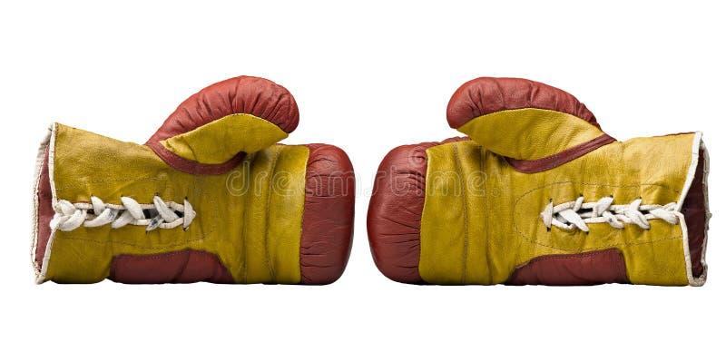 拳击手手套红色黄色 库存图片
