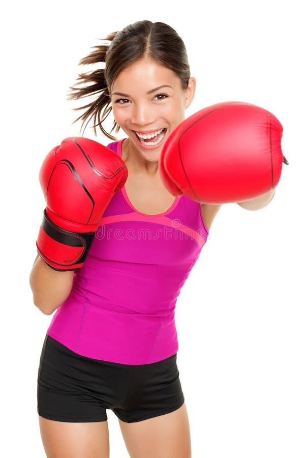 拳击手拳击健身妇女 免版税库存图片