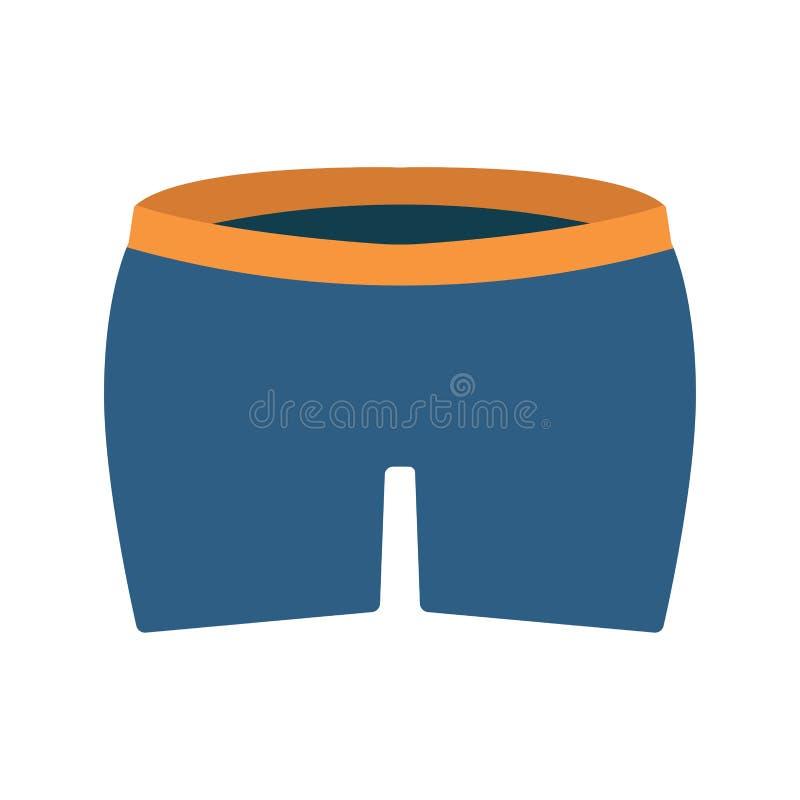 拳击手摘要衣裳式样健身传染媒介平的象 内裤人短裤人 向量例证