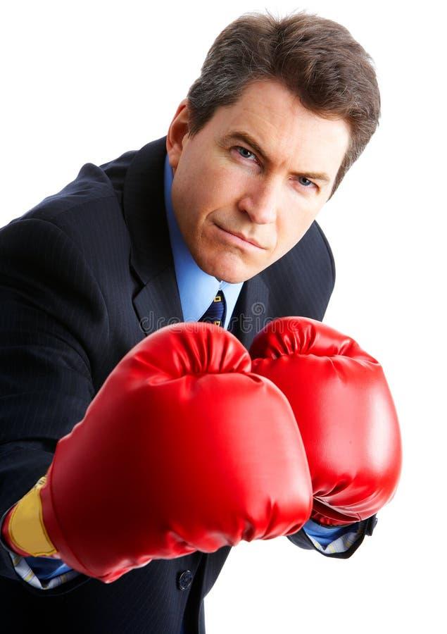 拳击手生意人 库存图片