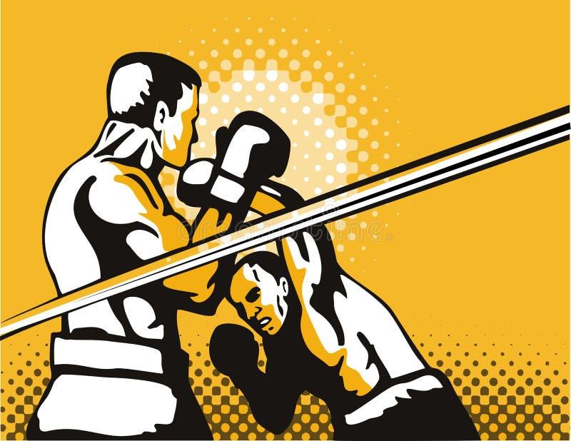 拳击手顶上的打孔机 库存例证