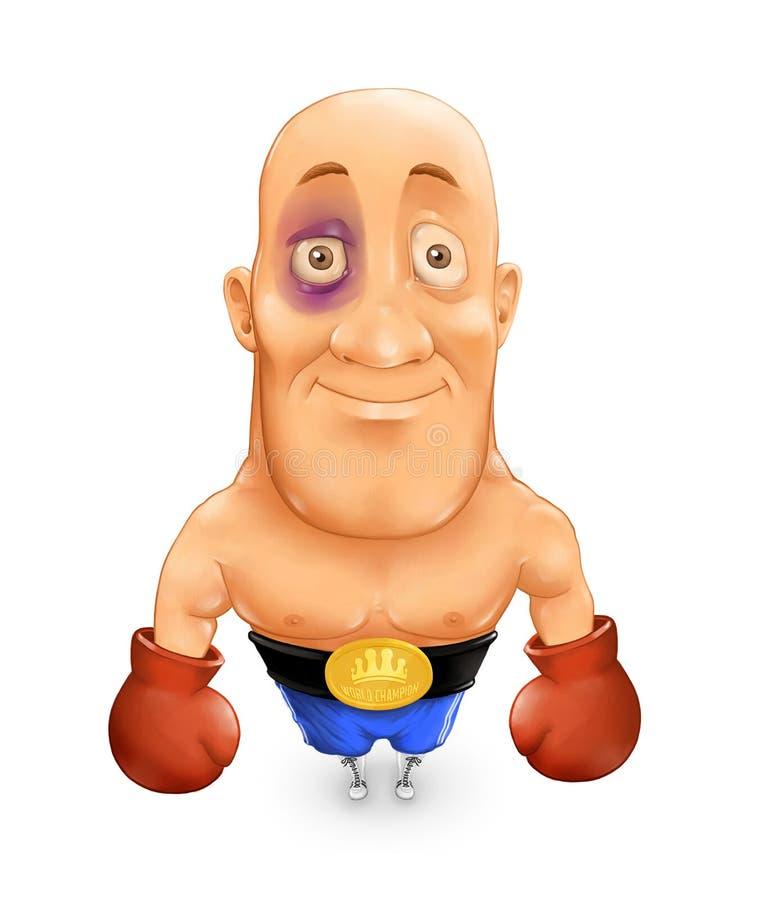 拳击手 向量例证