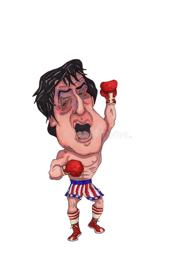拳击手 皇族释放例证