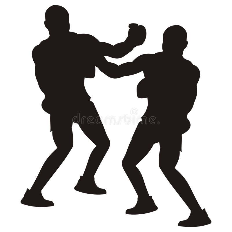 拳击手 库存例证
