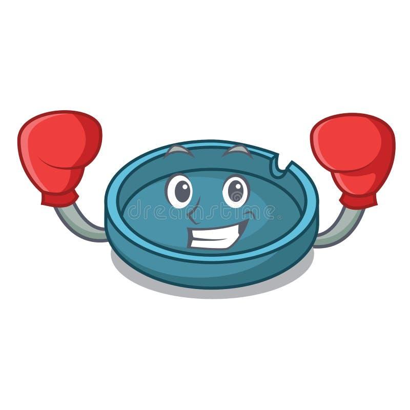 拳击烟灰缸字符动画片样式 皇族释放例证