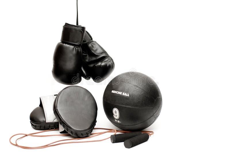 拳击设备 免版税库存照片