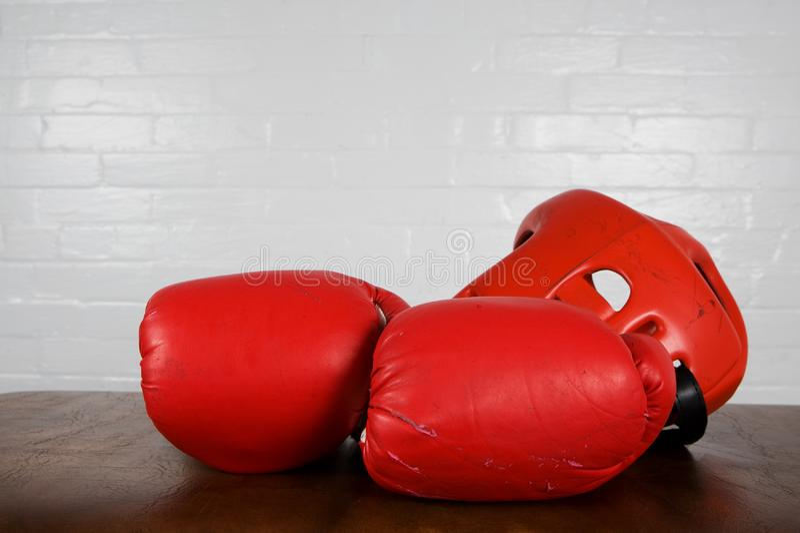 拳击齿轮 免版税图库摄影
