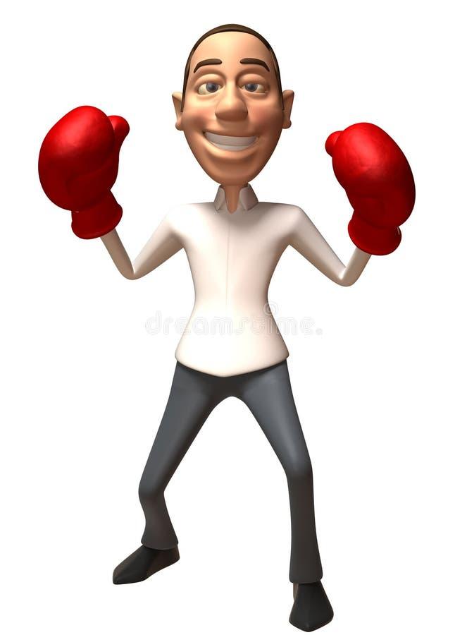 拳击 库存例证