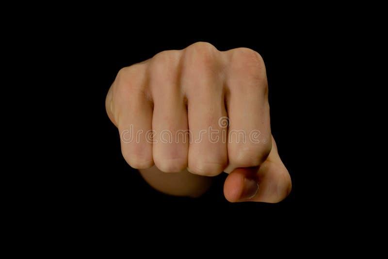 拳头愤怒 免版税库存照片