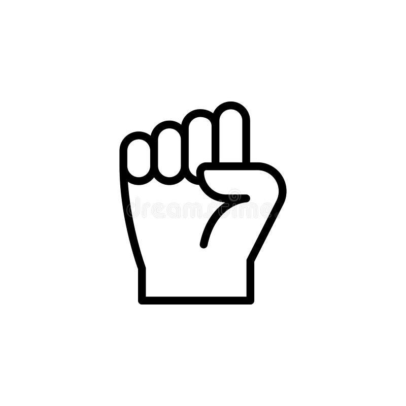 拳头手势概述象 手势例证象的元素 标志,标志可以为网,商标,流动应用程序使用, 向量例证