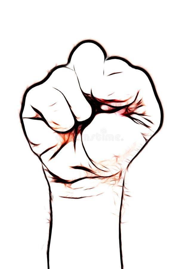 拳头符号 免版税库存照片
