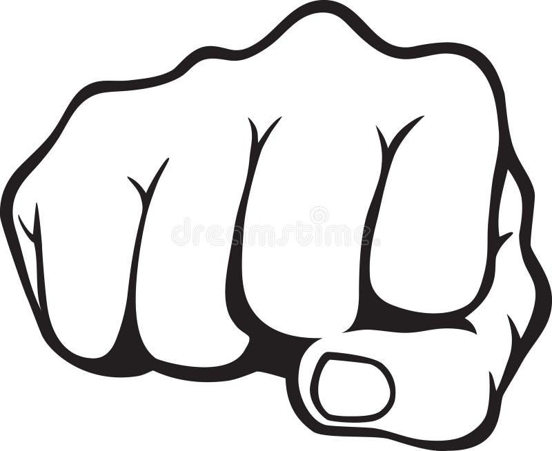 拳头 向量例证
