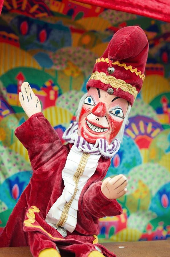拳打和judy,拳打木偶 免版税库存照片