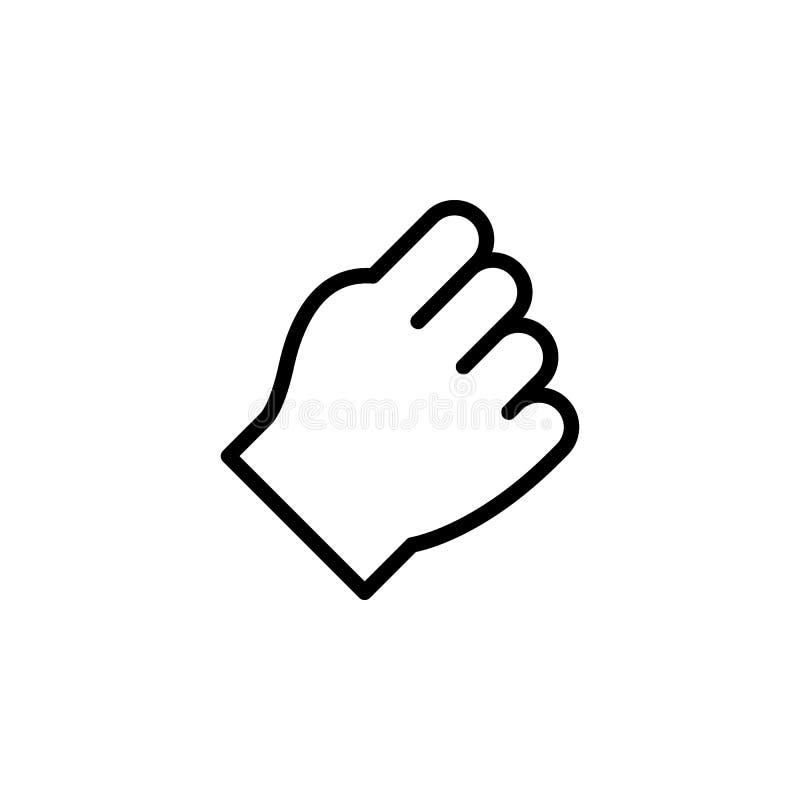 拳打手势概述象 手势例证象的元素 标志,标志可以为网,商标,流动应用程序使用, 库存例证