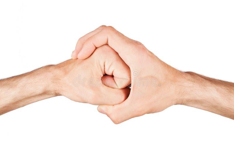 拳头在手中 免版税库存照片